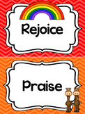 Noah's Ark themed Behavior Clip Chart. Preschool-Kindergarten Bible bulletin boa