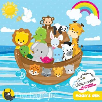 Noah's ark clipart commercial use, vector graphics, digital - CL936