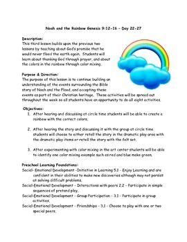 Noah & the Rainbow lesson and activities