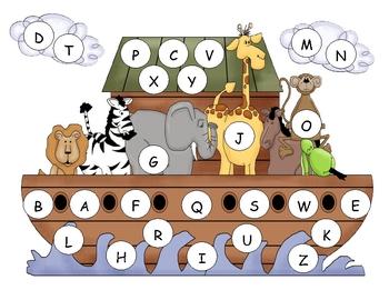 Noah's Ark Capital Alphabet Mat