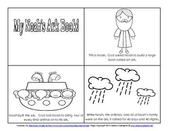 Noah's Ark Preschool Math and Literacy Activities