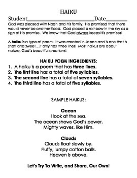 Noah's Ark Readers' Theater and Activity Packet