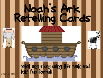 Noah's Ark Retelling Cards for Walk and Talk