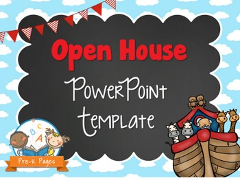 Noah's Ark Theme Open House ~ Back-to-School ~ PowerPoint Template