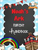 Noah's Ark Theme Parent Handbook Back-to-School {personalize it}