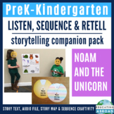 Unicorn Story Sequencing with Pictures, Storytelling with Story Map: PreK Kinder