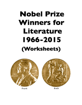 Nobel Prizes for Literature: 1966-2015 (Worksheets)