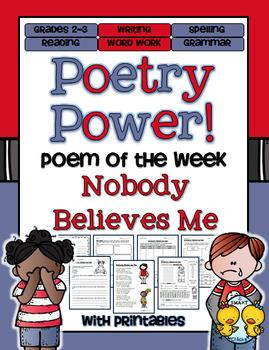 Poem of the Week: Nobody Believes Me Poetry Power!
