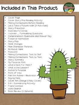 Nobody Hugs a Cactus by Goodrich 32 Book Extension Activities NO PREP