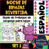 Noche de Bruja - No-Prep Literacy Printables -Spanish Version