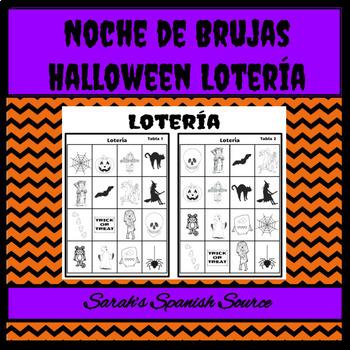 Noche de Brujas Spanish Halloween Lotería Game