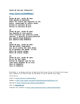 Noche de Paz (Silent Night) by iCharacter. Spanish Song with English Translation