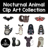 Nocturnal Animal Clip Art