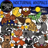 Nocturnal Animal Clipart {Creative Clips Clipart}