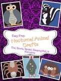 5 Nocturnal Animal Crafts (Bat, Spider, Skunk, Porcupine, Owl)
