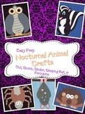 5 Nocturnal Animal Crafts (Bat, Spider, Skunk, Porcupine, Owl)