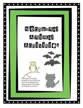 Nocturnal Animal Math and Literacy Mini Bundle