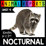Nocturnal Animal Nonfiction - Bats - Flying Squirrels - Crafts  Reading Passages