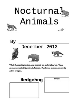 Nocturnal Animal Research Project For 1st Graders