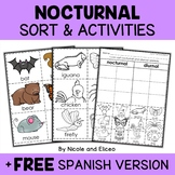 Nocturnal Animals Sort Activities