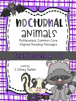 Nocturnal Animals: CCSS Aligned Leveled Reading Passages a