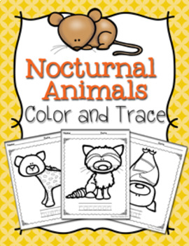 Nocturnal Animals Color and Trace