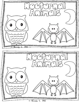 nocturnal animals emergent reader by brandy w teachers pay teachers. Black Bedroom Furniture Sets. Home Design Ideas