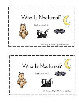 Nocturnal Animals Emergent Reader