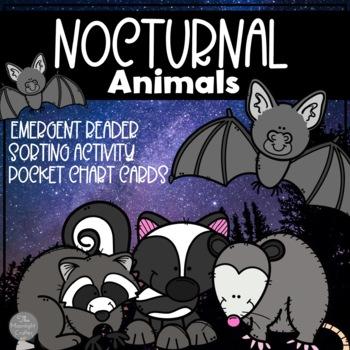 Nocturnal Animals Emergent Reader and Mini Literacy Set