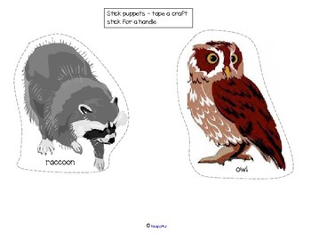 Nocturnal Animals Science Emergent Reader Lift the Flap Booklet Craftivity