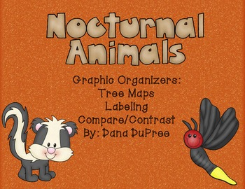 Nocturnal Animals Graphic Organizers