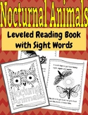 Nocturnal Animals Leveled Reading Booklet with Sight Words!