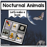 Nocturnal Animals Let's Make a Book and Coloring Pages