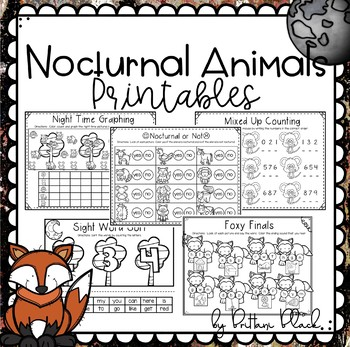 Nocturnal Animals~ Print and Go