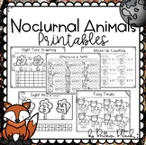 Nocturnal Animals Printables
