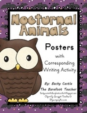 Bats - Nocturnal Animals Posters with Corresponding Writing Activity