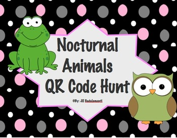 Nocturnal Animals QR Code Activity