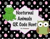 Nocturnal Animals QR Code Activity