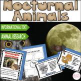 NOCTURNAL ANIMALS:  Research, Nonfiction Text Features, Slideshow, Flipbook