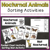 Nocturnal Animals Sorting Activities
