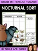 Interactive Sorting - Nocturnal Animals Activity