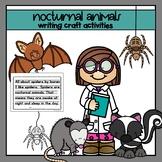 Nocturnal Animals Writing Craftivities