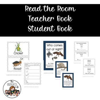 Nocturnal Animals: read the room, teacher book, worksheets