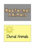 Nocturnal and Diurnal Animal Sort