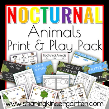 Nocturnal Animals {Print & Play Pack}
