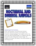 Nocturnal and Diurnal Animals - Write the Room Activity