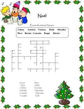 Noël-mots croisés et mots cachés
