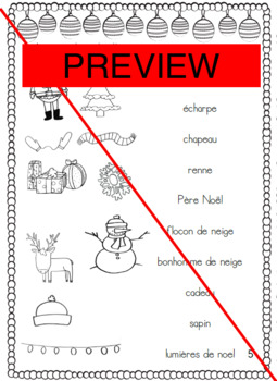 Noël: Cahier d'activités / French Christmas Activity Book
