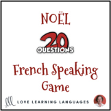 Noël - Christmas - French 20 questions game - No prep spea