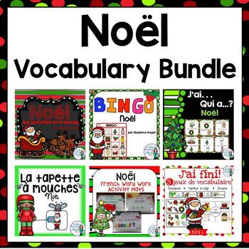 Noël: French Christmas Themed Vocabulary BUNDLE